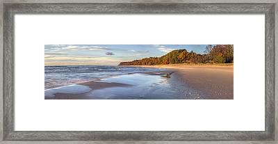 Lake Michigan In The Fall Framed Print