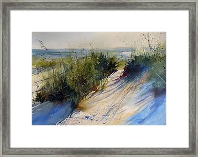 Lake Michigan Framed Print by Sandra Strohschein
