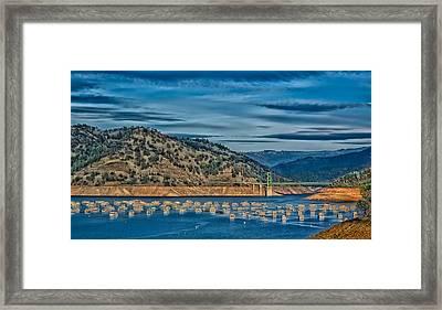 Lake Oroville Yacht Basin Framed Print