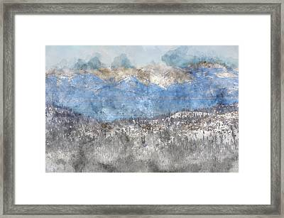 Lake Tahoe California In Winter Framed Print by Brandon Bourdages