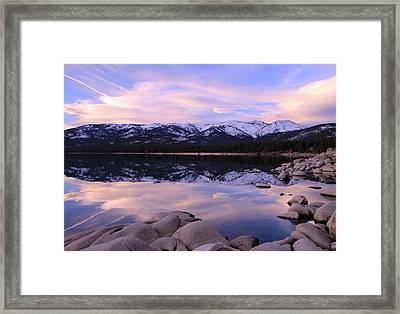 Lake Tahoe Rocks Framed Print