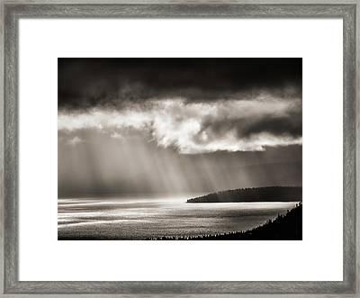 Lake Tahoe Storm Framed Print
