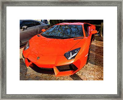 Lamborghini Aventador Framed Print