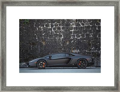 Framed Print featuring the photograph #lamborghini #aventador  by ItzKirb Photography