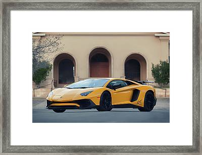 Framed Print featuring the photograph #lamborghini #aventadorsv #superveloce #print by ItzKirb Photography