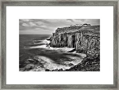 Lands End At Dusk Framed Print by Pete Hemington