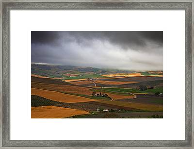 Landscape Near Torre Alhaquime, Cadiz Framed Print by Panoramic Images