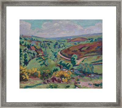 Landscape Of Creuse Framed Print by Armand Guillaumin
