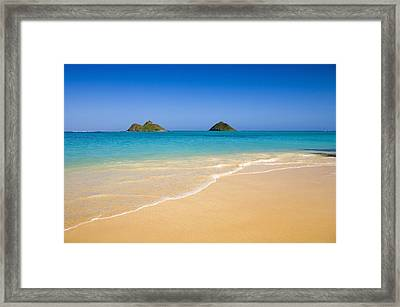 Lanikai, Mokulua Islands Framed Print by Tomas del Amo - Printscapes