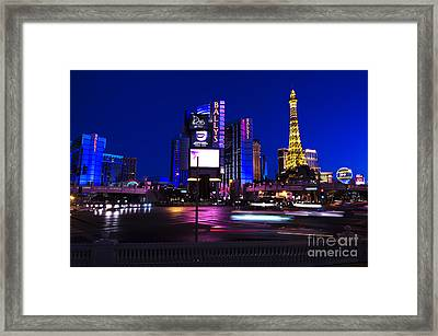 Las Vegas Blues Framed Print by John Rizzuto