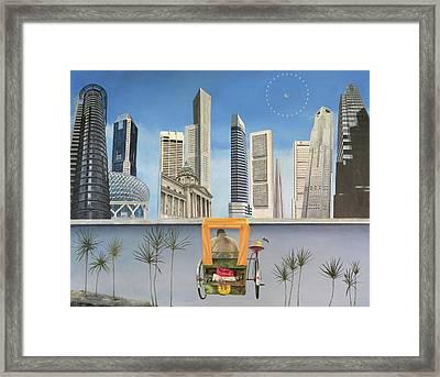 Last Dim Sum In Singapore Framed Print by Tibone Buffalomeat