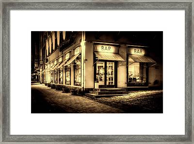 Late Night Framed Print