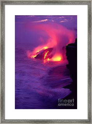 Lava Meets The Sea Framed Print