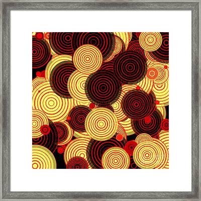 Layered Circles Framed Print