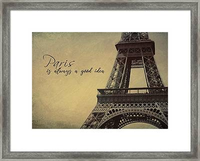 Le Jules Vernes Quote Framed Print by JAMART Photography