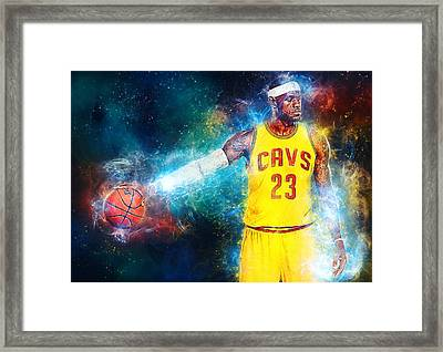 Lebron James Framed Print by Taylan Apukovska