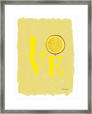 Lemon Framed Print by Mark Rogan