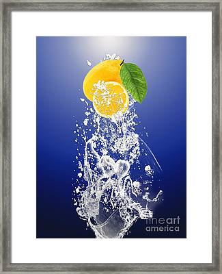 Lemon Splast Framed Print by Marvin Blaine