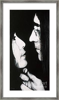Lennon And Yoko Framed Print by Ashley Price