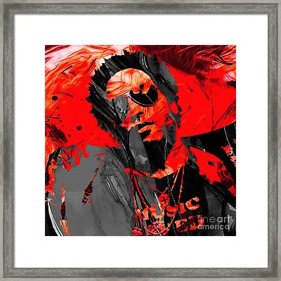 Lenny Kravitz Collection Framed Print by Marvin Blaine