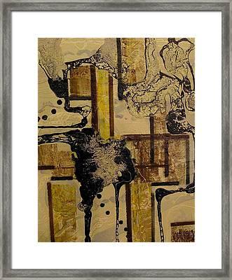 2 Level Painting Framed Print by Evguenia Men