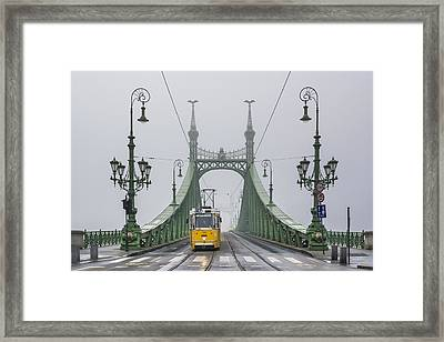 Liberty Bridge Budapest Hungary Framed Print by Ayhan Altun