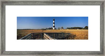 Lighthouse In A Field, Bodie Island Framed Print by Panoramic Images