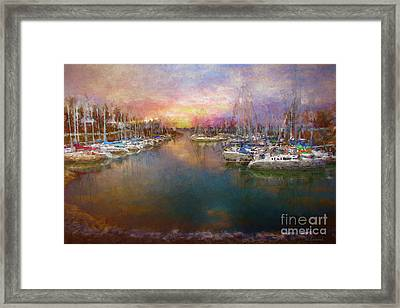 Lighthouse Landing Framed Print