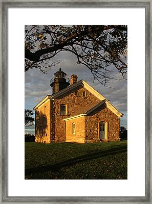 Lighthouse Old Field Point New York Framed Print