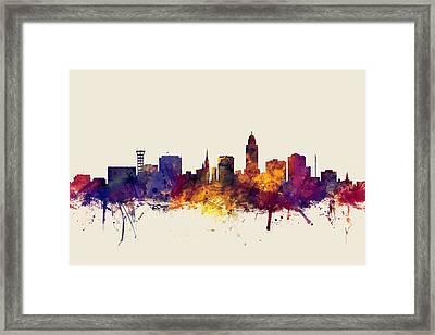Lincoln Nebraska Skyline Framed Print