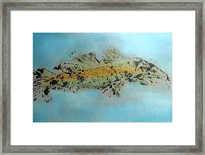 Link Cod Or Walleye Framed Print by Thomas Armstrong