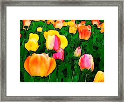 2 Lips Framed Print by Leonard Rosenfield