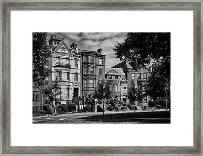 Logan Circle Row Houses Framed Print by L O C