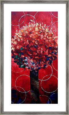 Lollipop Tree Red Framed Print