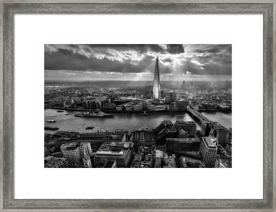 London From The Sky Garden Framed Print