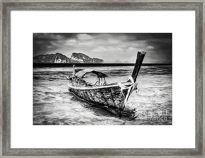 Longboat Thailand Framed Print
