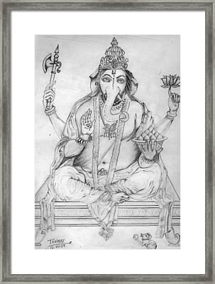 Lord Ganesha Framed Print by Tanmay Singh