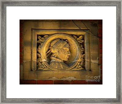 Lost Medallion In Alleyway,  Pittsburgh, Pa  Framed Print