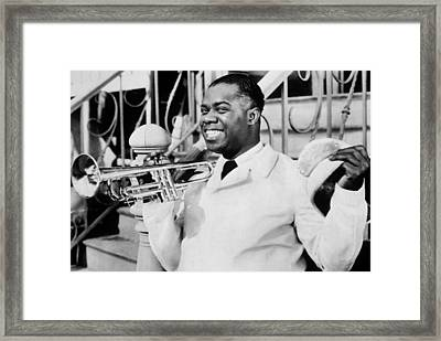 Louis Armstrong Framed Print by American School