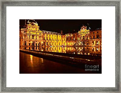 Framed Print featuring the photograph Louvre Pyramid by Danica Radman