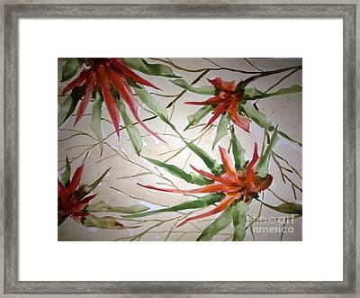 Love Flowers Framed Print by Baljit Chadha