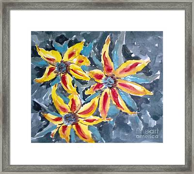 Love Flowers Framed Print by Baljitchadha