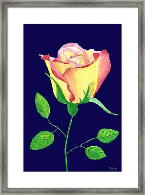 Framed Print featuring the painting Love In Bloom by Rodney Campbell