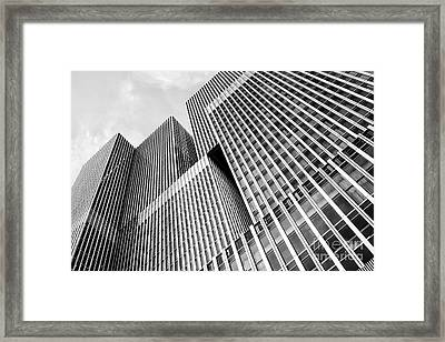 Low Angle View Of A Huge Skyscraper Framed Print