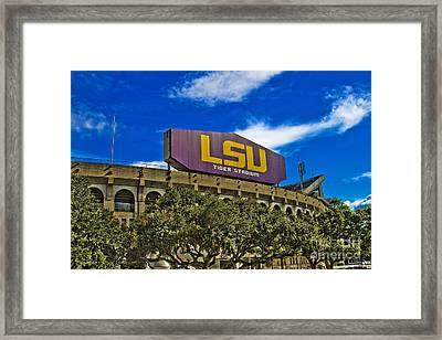 Lsu Tiger Stadium Framed Print by Scott Pellegrin