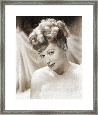 Lucille Ball Vintage Hollywood Actress Framed Print