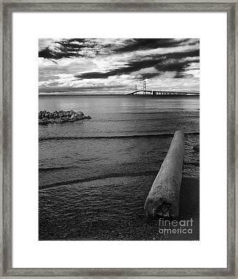 Mackinac Bridge - Infrared 01 Framed Print