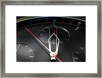 Macro Watch Closeup Framed Print by Allan Swart