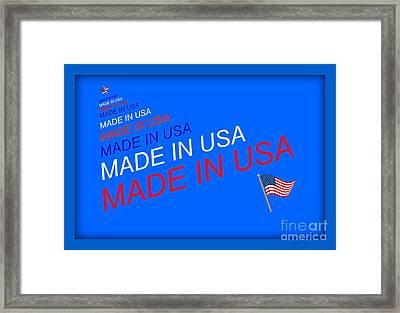 Made In Usa Framed Print