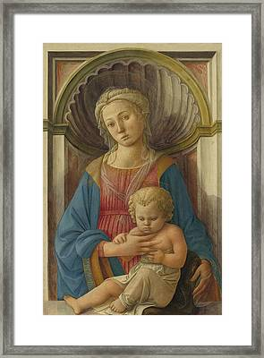Madonna And Child Framed Print by Fra Filippo Lippi